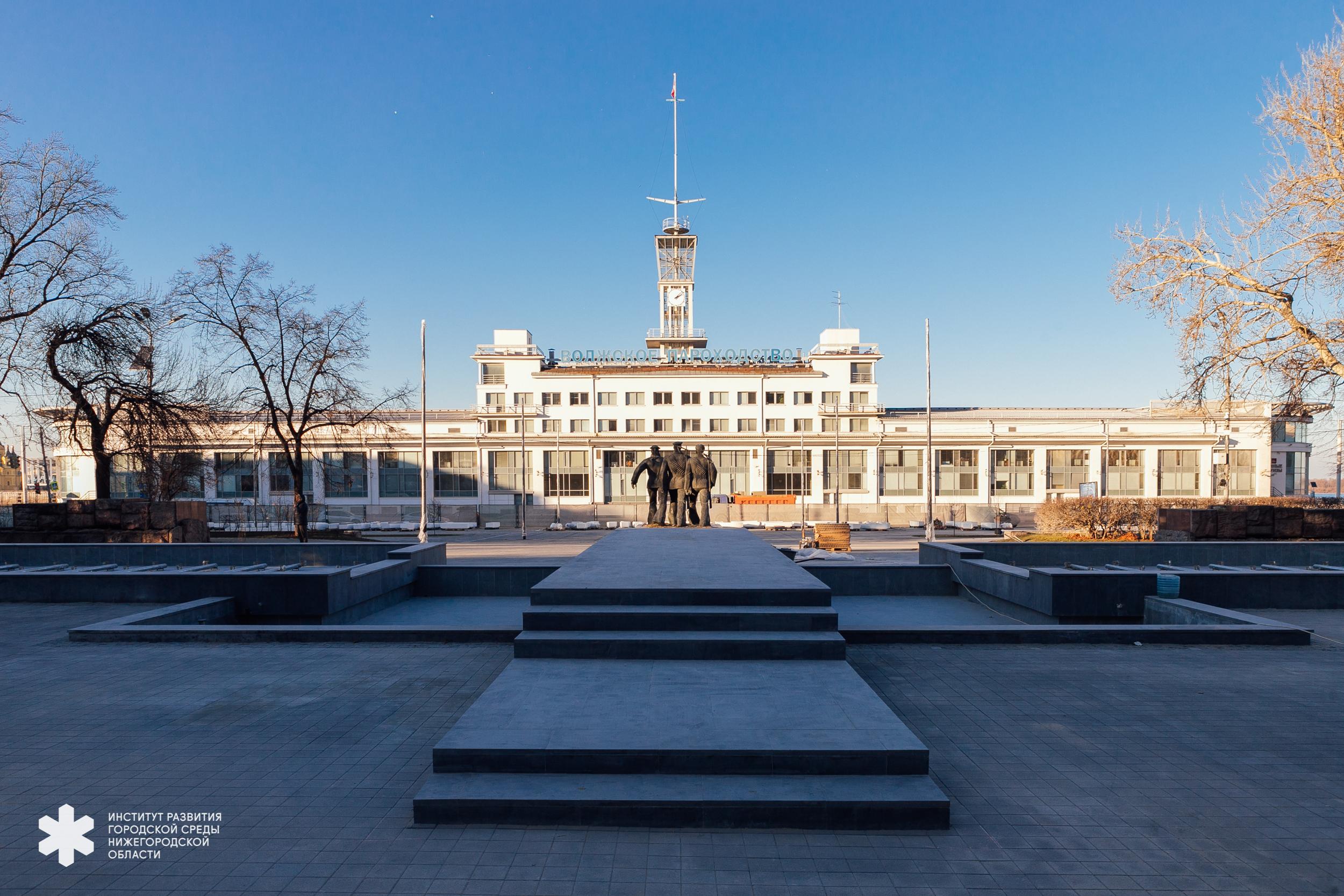 В Нижнем Новгороде завершаются работы по благоустройству трех территорий из программы «Среда 800»