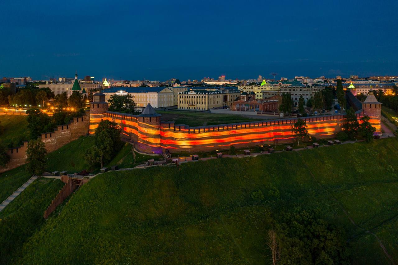 Проекция Георгиевской ленточки появится на Нижегородском кремле 9 мая