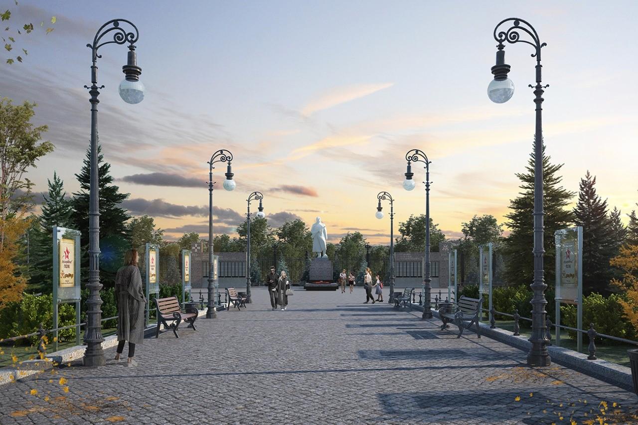 В Дивееве началось благоустройство парка Победы