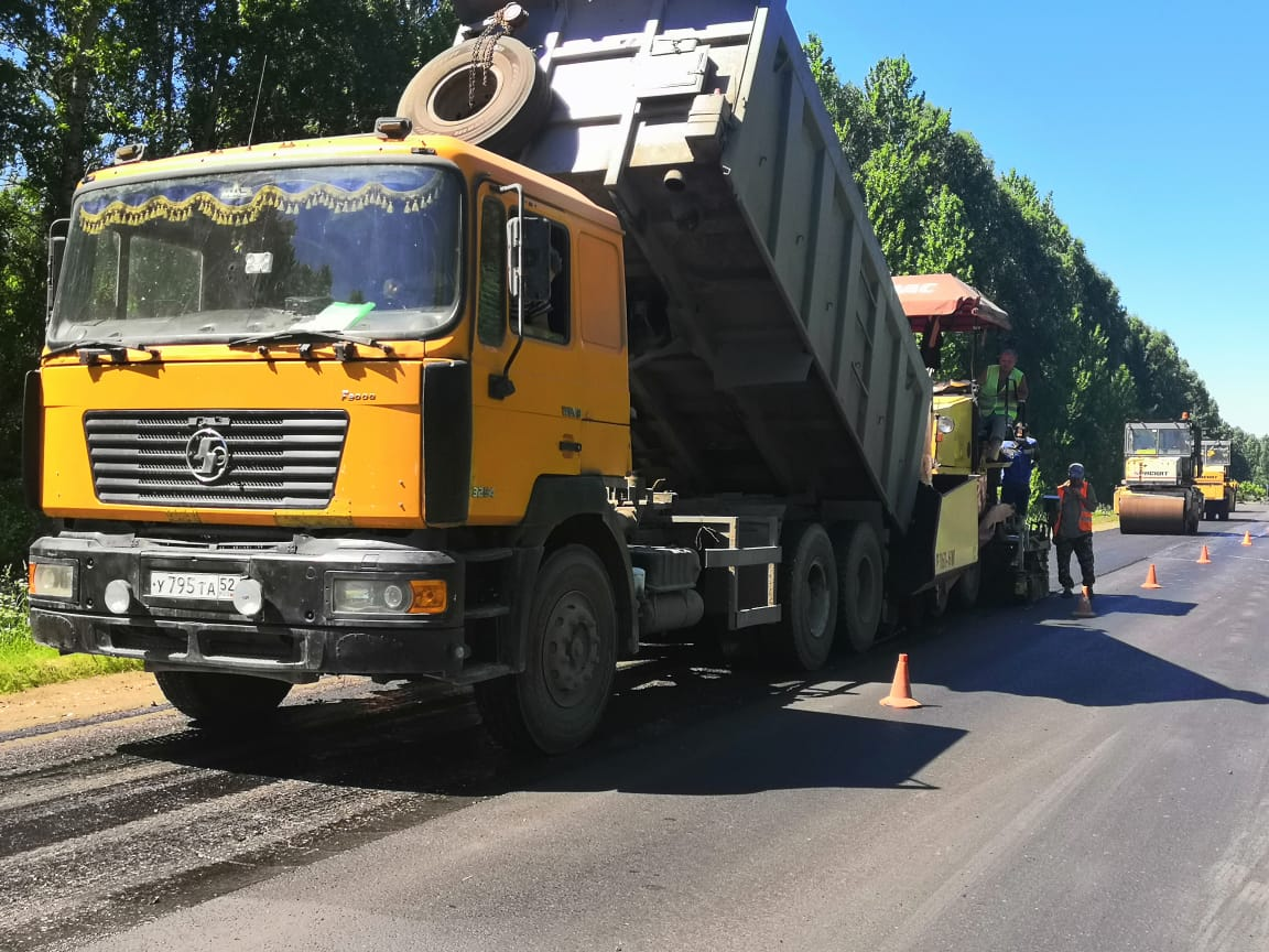 В Дивеевском районе ремонтируют участок дороги Выездное – Дивеево – Сатис