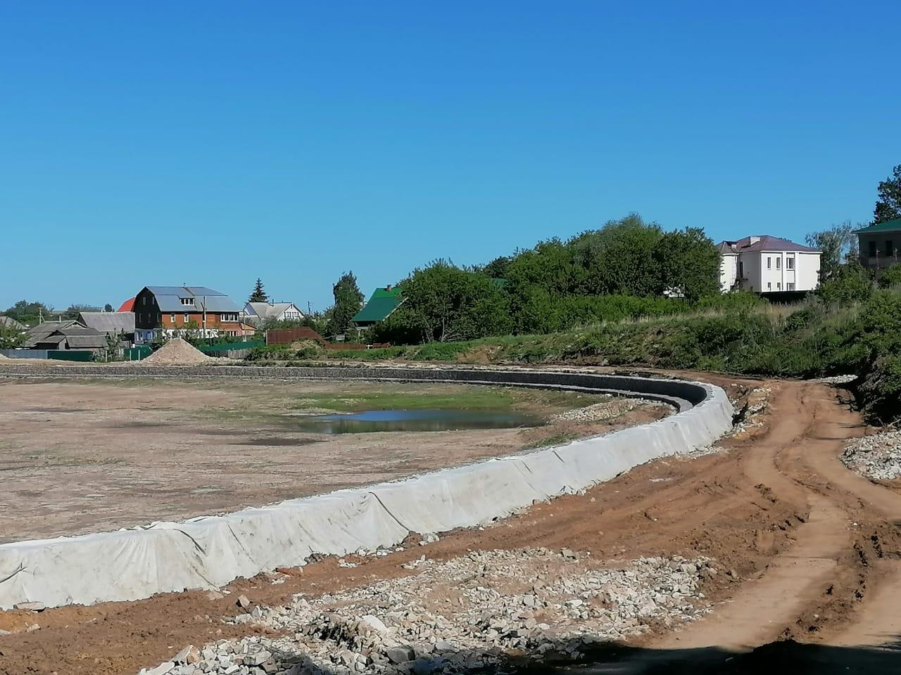 В Дивееве завершились работы по расчистке реки Вичкинзы