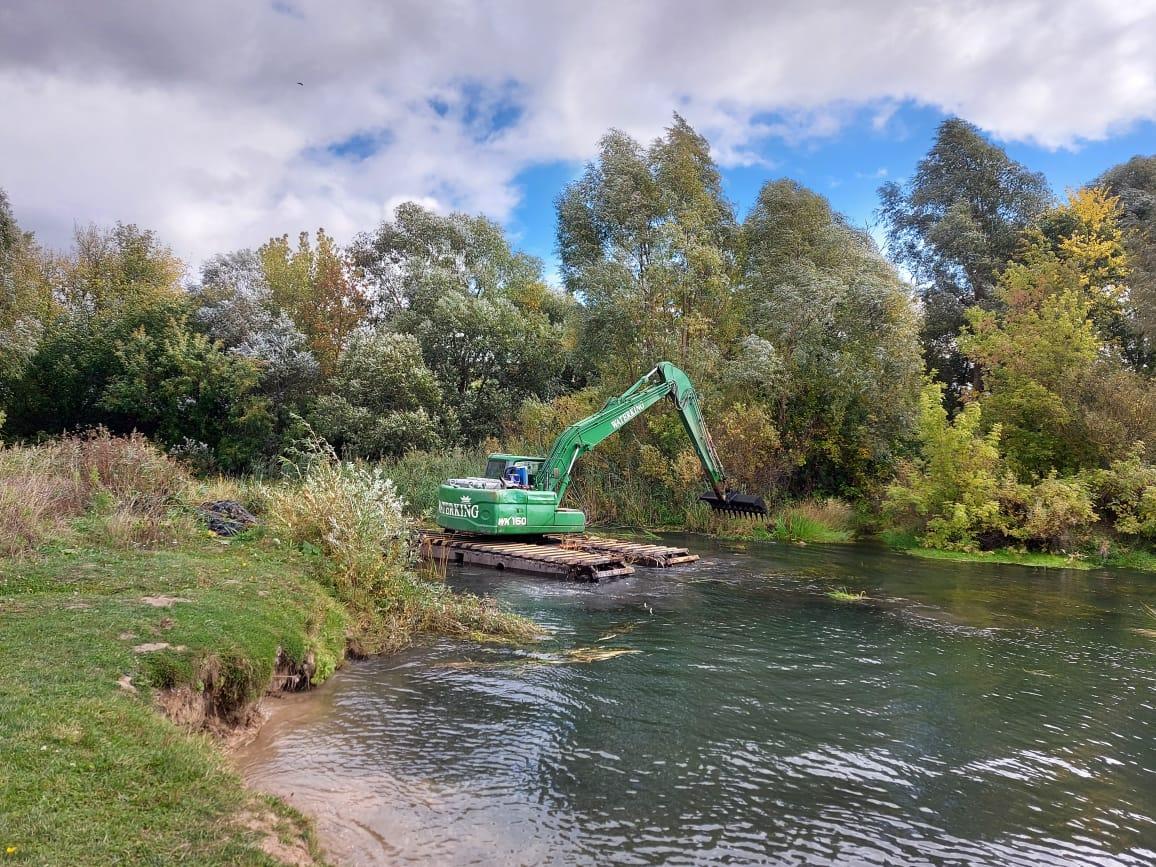 Работы по расчистке реки Теши ведутся в Арзамасе