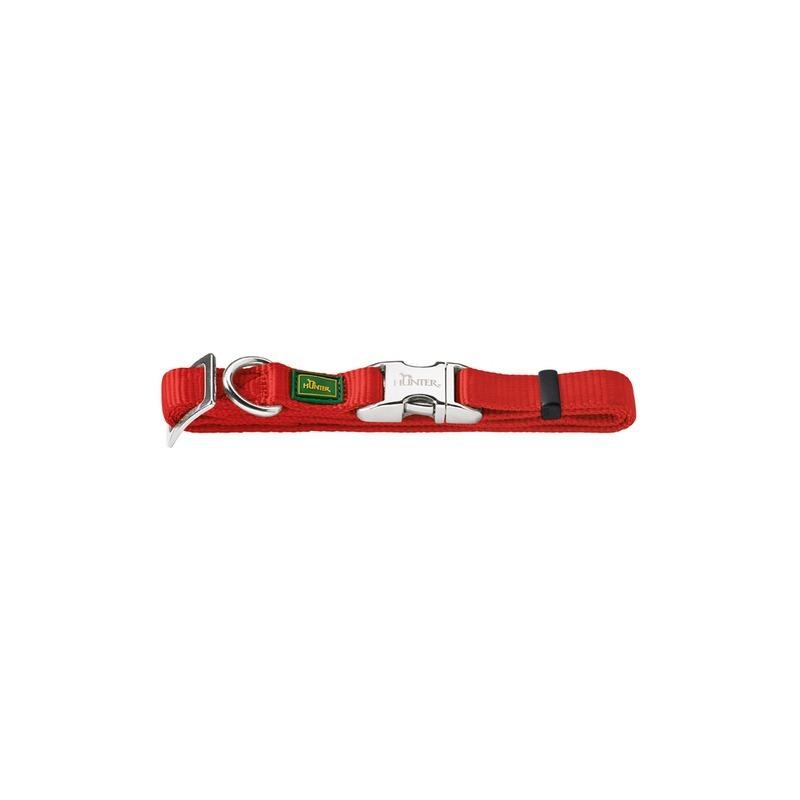 HUNTER Smart Hunter ошейник для собак ALU-Strong L (45-65 см) нейлон с металлической застежкой красный