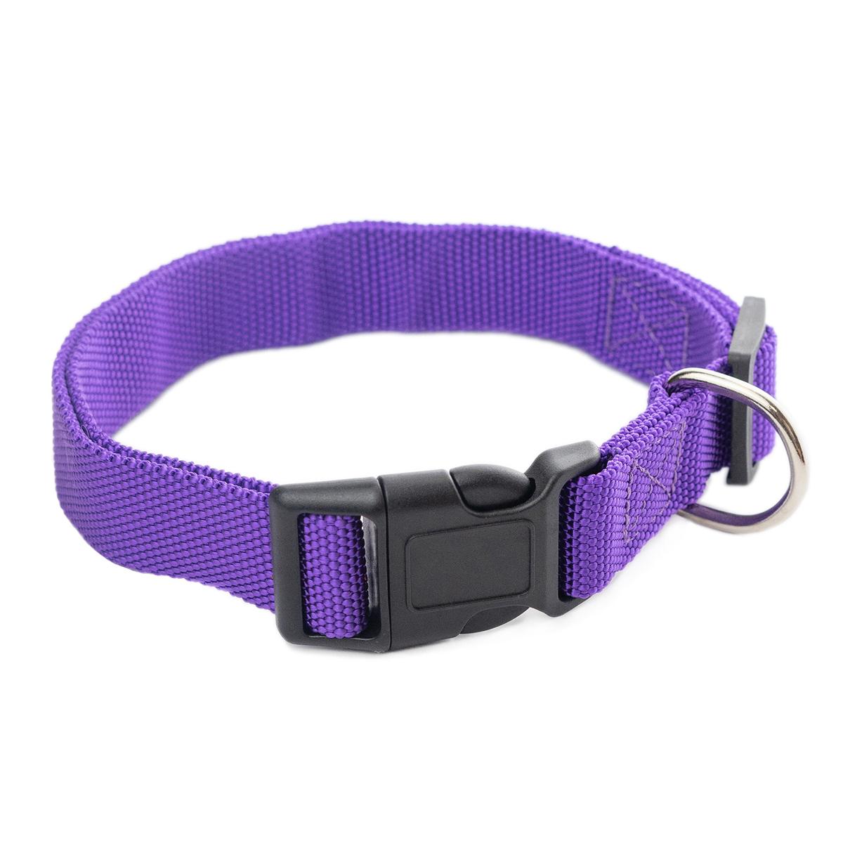 Ошейник для собак ХОРОШКА Спорт 25х350-550мм усиленный, фиолетовый