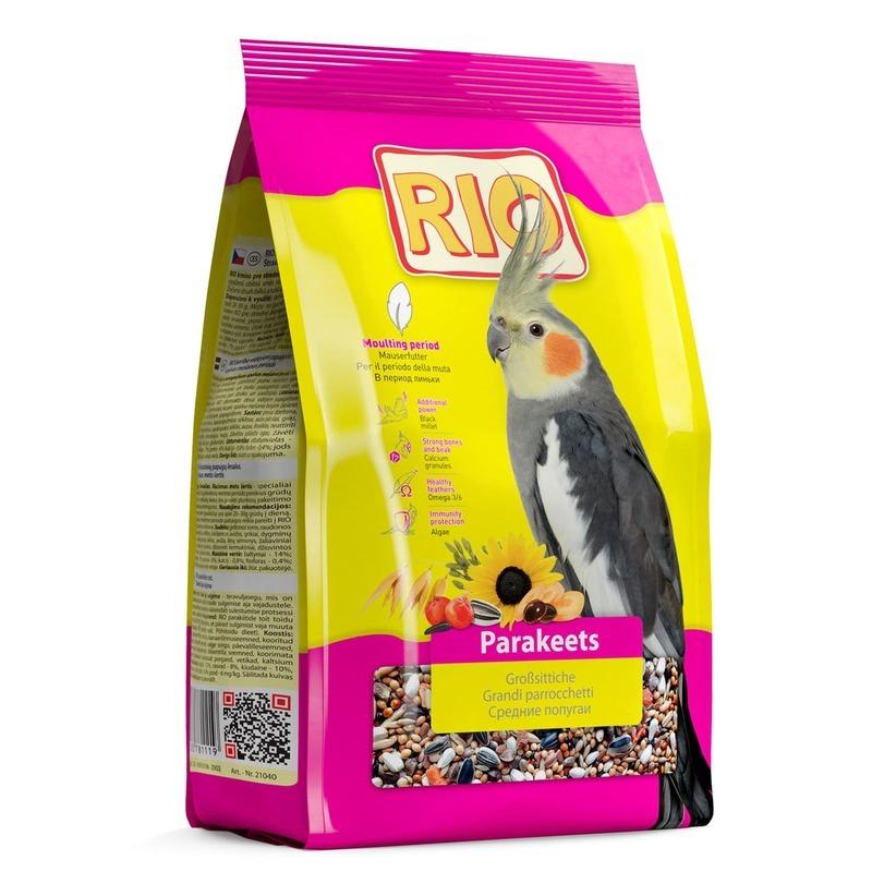 RIO Rio корм для средних попугаев в период линьки - 1 кг