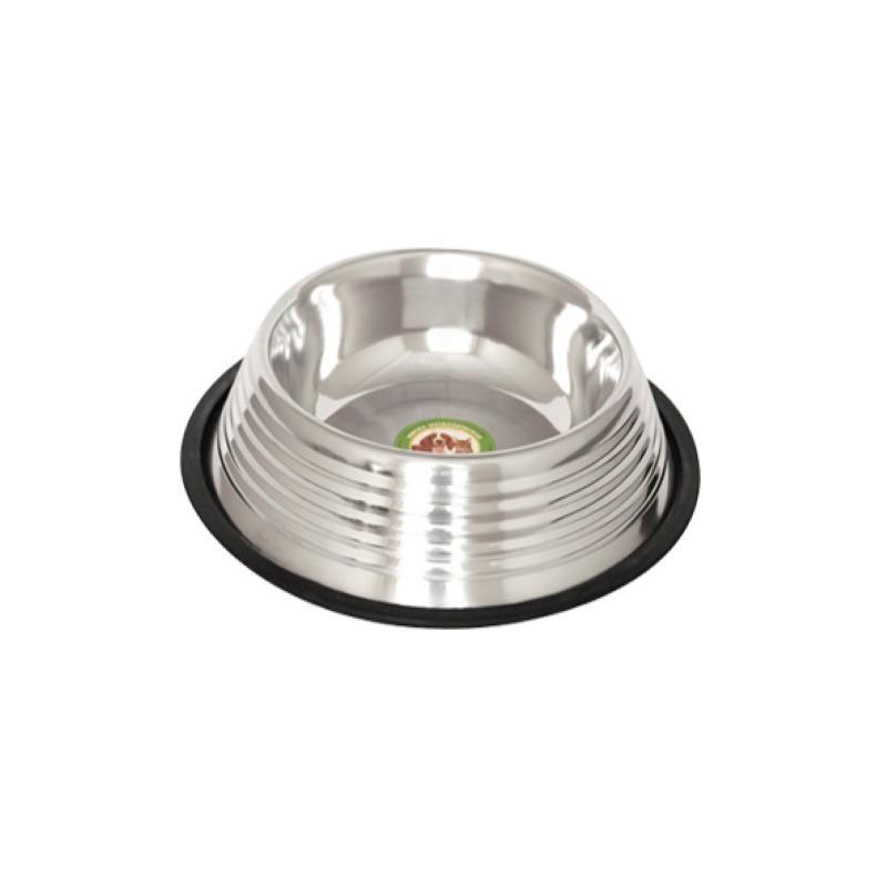 Ankur Exports Ankur Exports миска металлическая с резиновым основанием рельефная - 450 мл