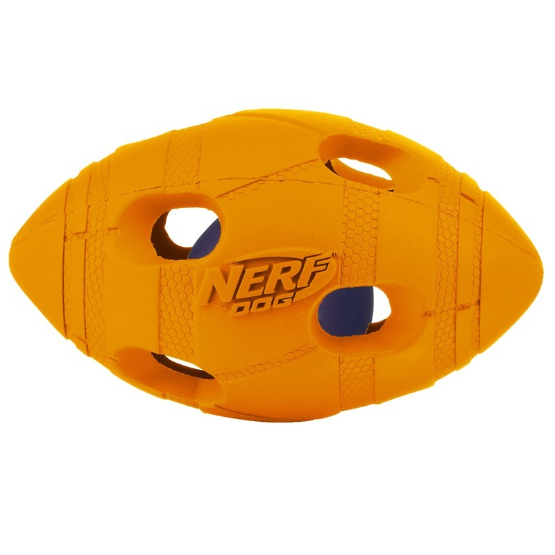 NERF Игрушка для собак Nerf Мяч для регби светящийся - 10 см