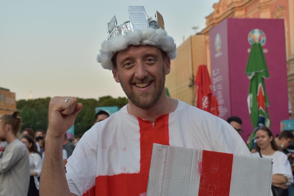 Болельщики финала Италия - Англия в Санкт-Петербурге.