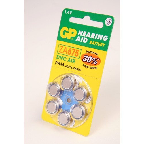 Элемент питания GP Hearing Aid ZA675-D6 ZA675 BL6