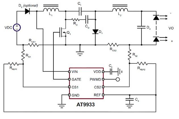 AT9933 - драйверы светодиодов для автомобильной светотехники