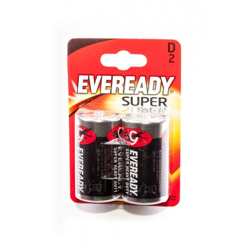 Элемент питания EVEREADY Super Heavy Duty R20 BL2