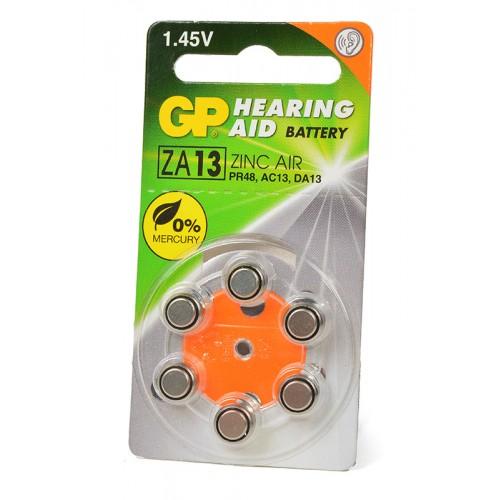 Элемент питания GP Hearing Aid ZA13F-D6 ZA13 BL6