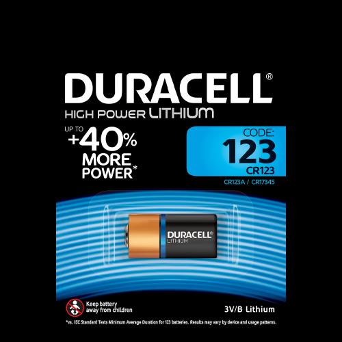 Элемент питания DURACELL HIGH POWER LITHIUM CR123A BL1