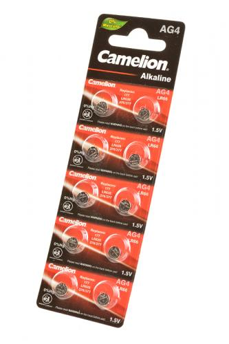 Camelion AG4-BP10(0%Hg) AG4 377 BL10, элемент питания, батарейка