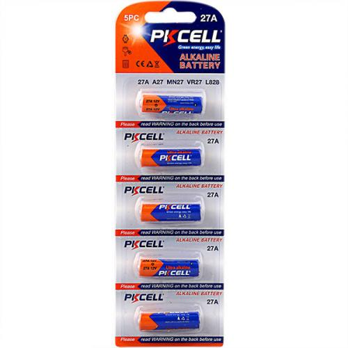 PKCELL 12V 27A-5B тип – A27 5 шт в блистере, элемент питания алкалиновый