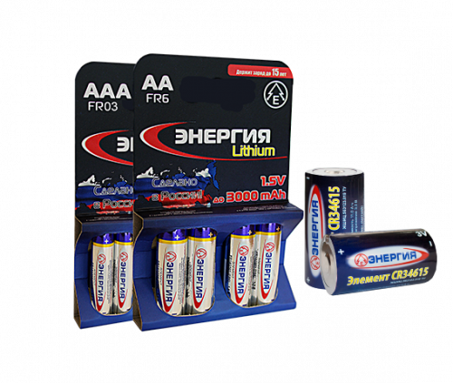 FR03 ЭНЕРГИЯ Lithium 4/card, элемент питания, батарейка размера AAA, напряжение 1,5 В, литиевый, 4 шт. в блистере на картон-карте