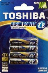 Батарейка, элемент питания TOSHIBA ALPHA POWER LR03GAFI BP-4S LR03 BL4
