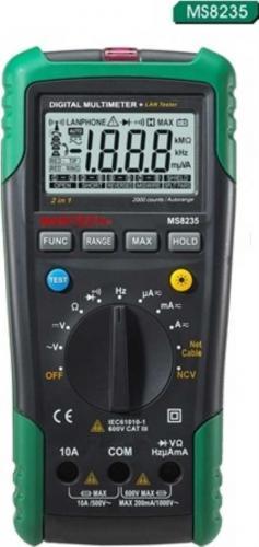 Mastech цифровой автоматический мультиметр+ кабельный тестер (коакс., витая пара) + детектор напряжения MS8235