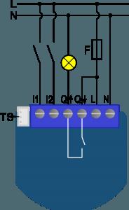 ZMNHND4 - Qubino Flush 1D Relay - схема подключения