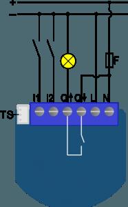 ZMNHND4 - Qubino Flush 1D Relay - схема поключения