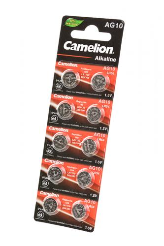 Camelion AG10-BP10(0%Hg) AG10 389 BL10, элемент питания, батарейка