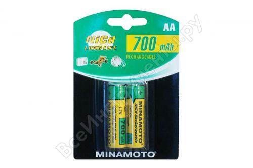 700mAh аккумулятор AA Minamoto Ni-Cd 2/card
