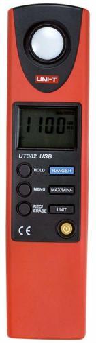 Измеритель освещенности (люксметр) цифровой, порт USB UNI-T UT382