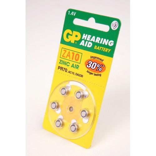 Элемент питания GP Hearing Aid ZA10-D6 ZA10 BL6