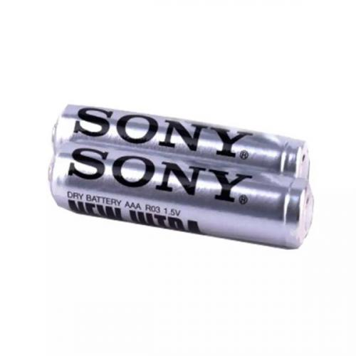 R03 SONY NEW ULTRA, элемент питания, батарейка размера AAA, напряжение 1,5 В, солевой, 2 шт. в плёнке