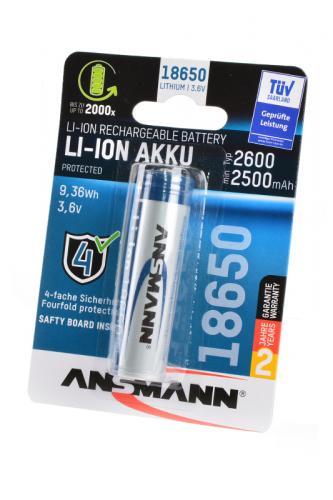 ANSMANN 1307-0000 18650 2600мАч с защитой BL1