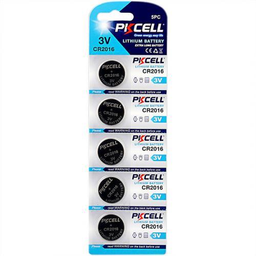 PKCELL CR2016-5B тип – CR2016 5 шт в блистере, элемент питания литиевый