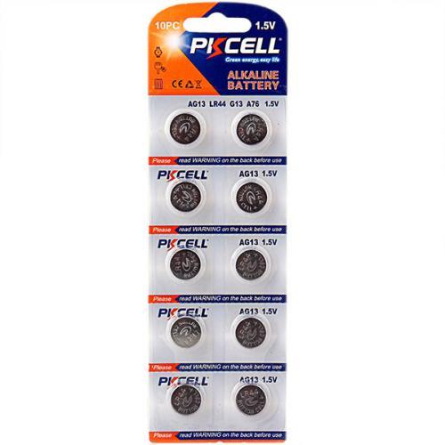PKCELL AG13-10B тип – LR44(AG13) 10 шт в блистере, элемент питания алкалиновый