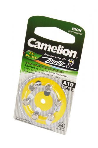 Camelion Zinc-Air A10-BP6(0% Hg) BL6, элемент питания, батарейка