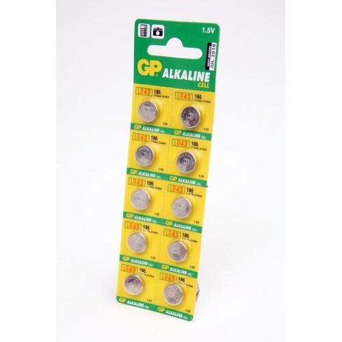 Элемент питания GP Alkaline cell 186-C10 AG12 BL10
