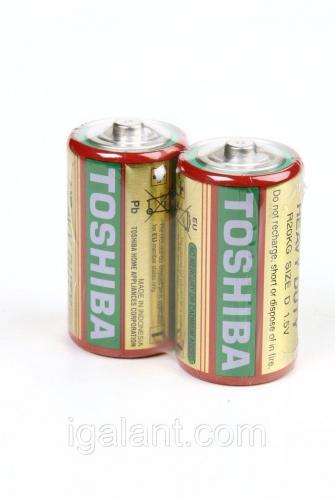 Батарейка, элемент питания R14 KG TOSHIBA 2/card