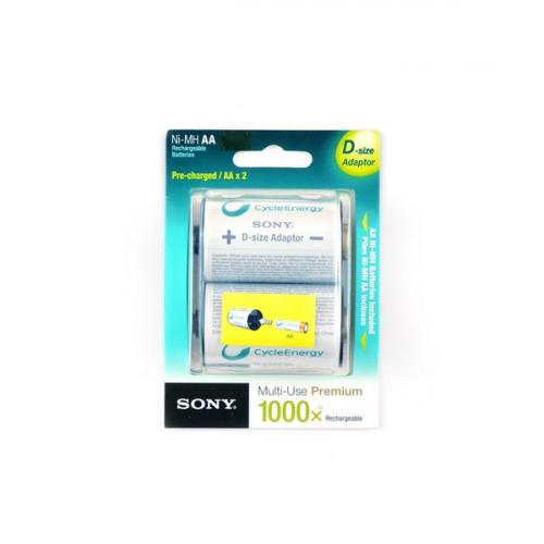 2100mAh аккумулятор AA SONY Cycle Ni-Mh 2/card, адаптер