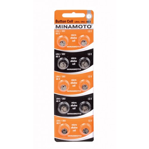 Элемент питания MINAMOTO Button Cell AG3 BL10