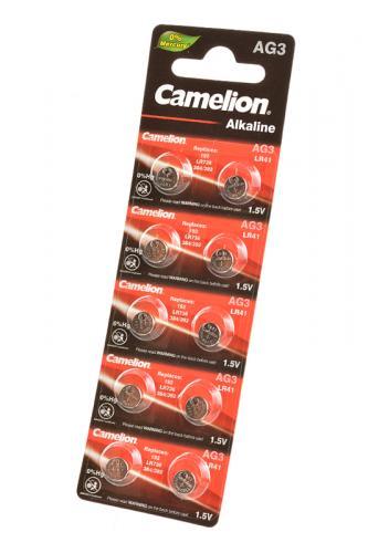 Camelion AG3-BP10(0%Hg) AG3 392  BL10, элемент питания, батарейка