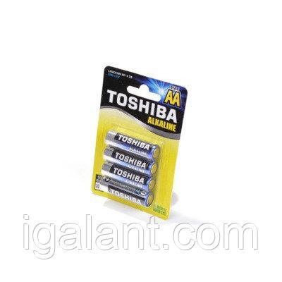 Батарейка, элемент питания TOSHIBA Alkaline LR6GCNN BP-4 SS LR6 BL4