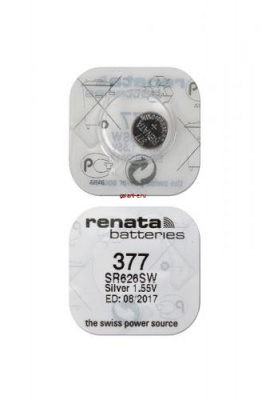 RENATA SR626SW  377 (0%Hg), в упак 10 шт