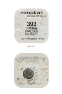 RENATA SR754W     393 (0%Hg), в упак 10 шт