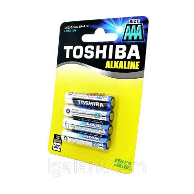 Батарейка, элемент питания TOSHIBA Alkaline LR03GCNN BP-4 SS LR03 BL4