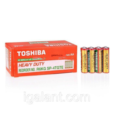 Батарейка, элемент питания R6 TOSHIBA 4/shrink