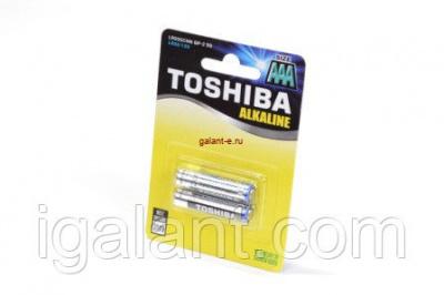 Батарейка, элемент питания LR03 TOSHIBA ALPHA POWER 4/card