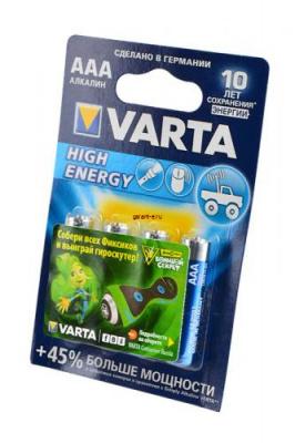 VARTA HIGH ENERGY/LONGLIFE POWER 4903 113 414 LR03 BL4, элемент питания, батарейка