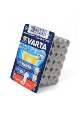 VARTA HIGH ENERGY/LONGLIFE POWER LR03 в упаковке 24 шт, элемент питания, батарейка