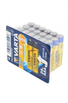 VARTA LONGLIFE 4103 LR03 в упаковке 24 шт, элемент питания, батарейка