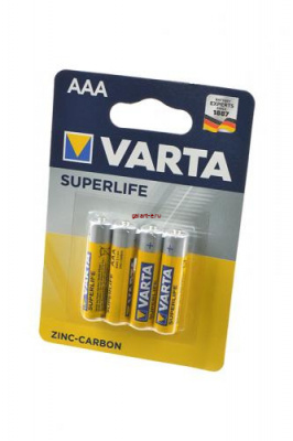 VARTA SUPERLIFE Micro 2003 R03 BL4 (трансп.уп. 240шт), элемент питания, батарейка