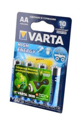 VARTA HIGH ENERGY/LONGLIFE POWER 4906 LR6 BL4, элемент питания, батарейка