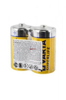 VARTA SUPERLIFE 2014 R14 SR2, в уп 24шт, элемент питания, батарейка